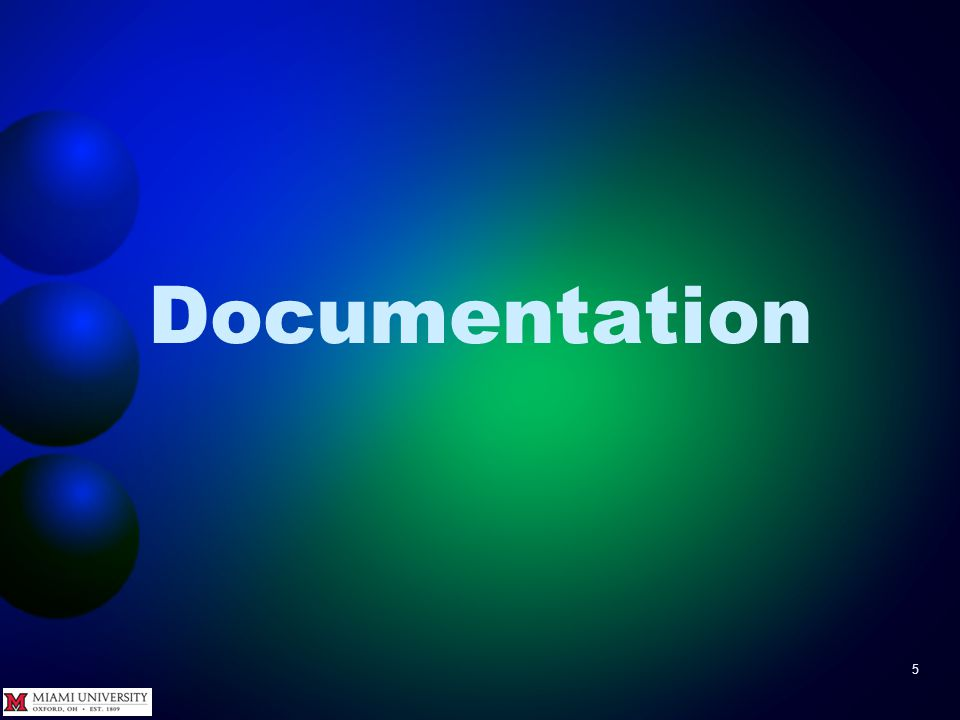 Documentation 5
