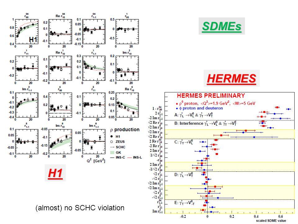 SDMEs HERMES H1 (almost) no SCHC violation