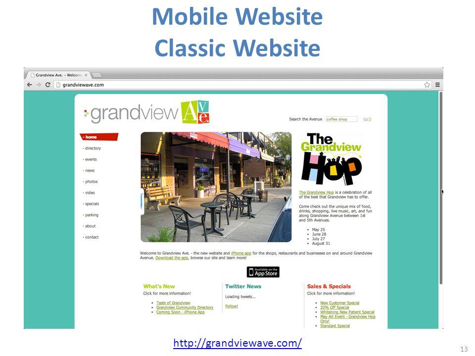 Mobile Website Classic Website 13 http://grandviewave.com/