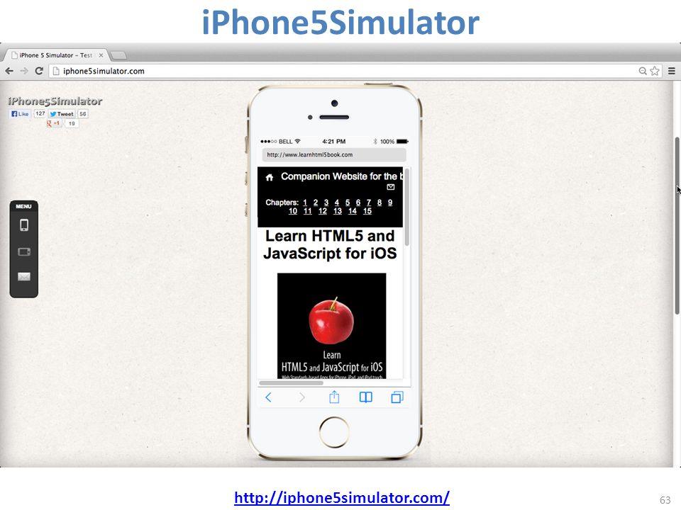 63 http://iphone5simulator.com/ iPhone5Simulator