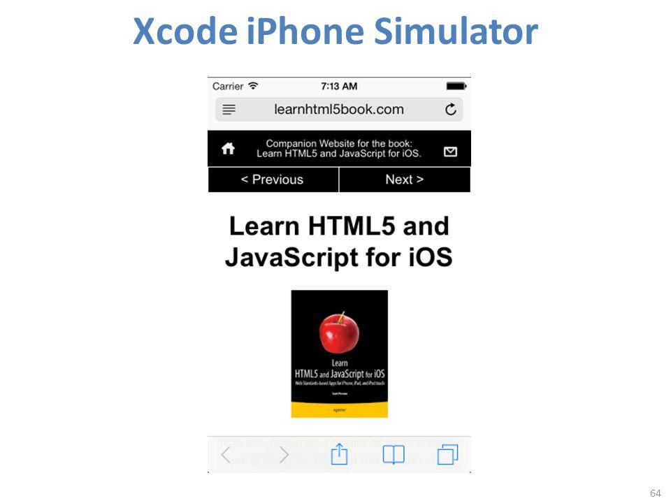 Xcode iPhone Simulator 64