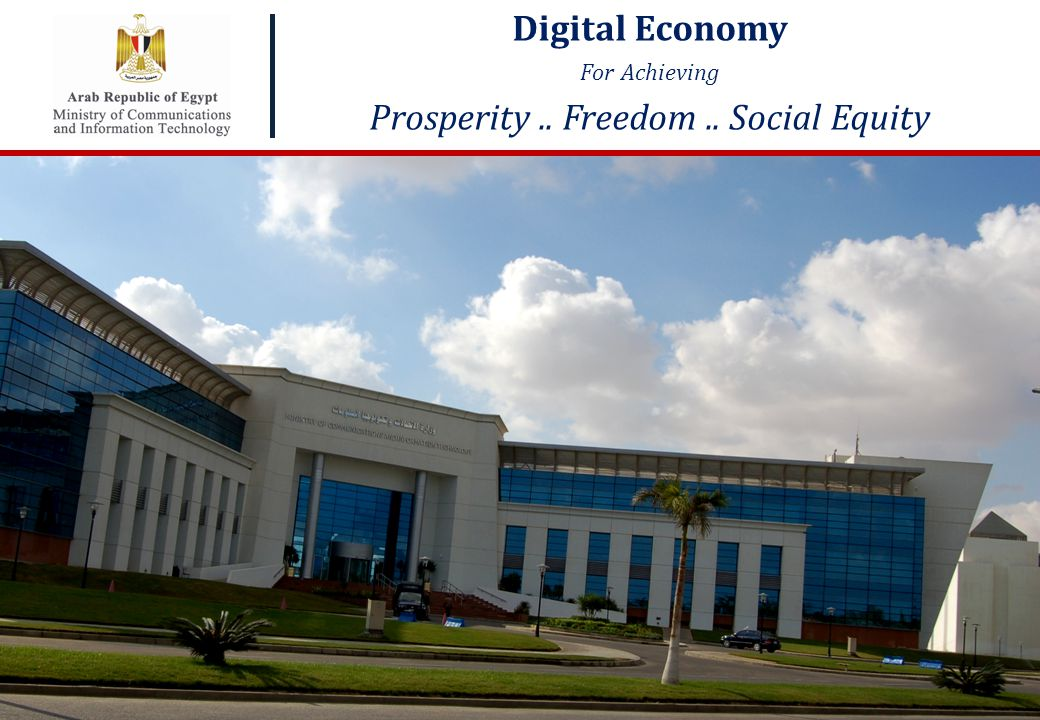 1 1 Click to edit Master title style Digital Economy For Achieving Prosperity.. Freedom.. Social Equity