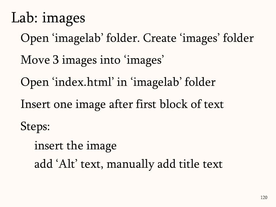 Open 'imagelab' folder.
