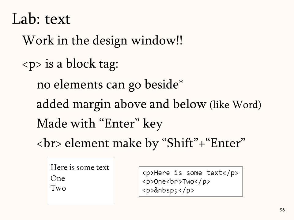 Work in the design window!.