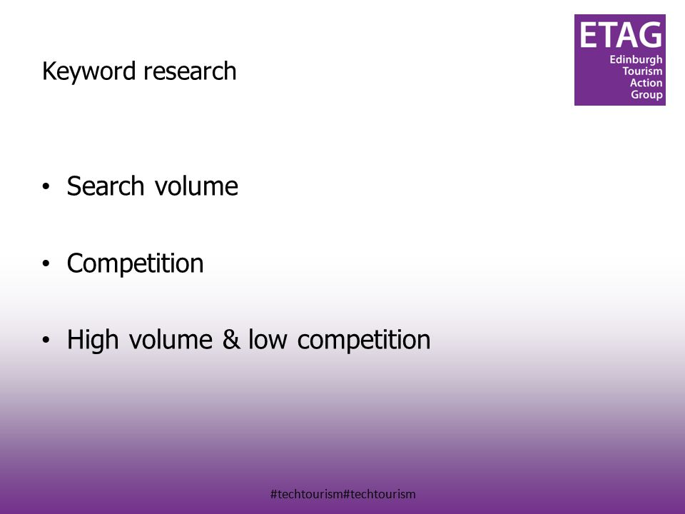 #techtourism#techtourism Keyword research Search volume Competition High volume & low competition