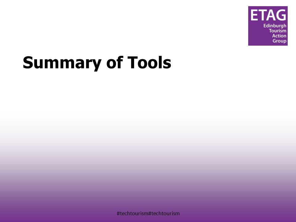 #techtourism#techtourism Summary of Tools