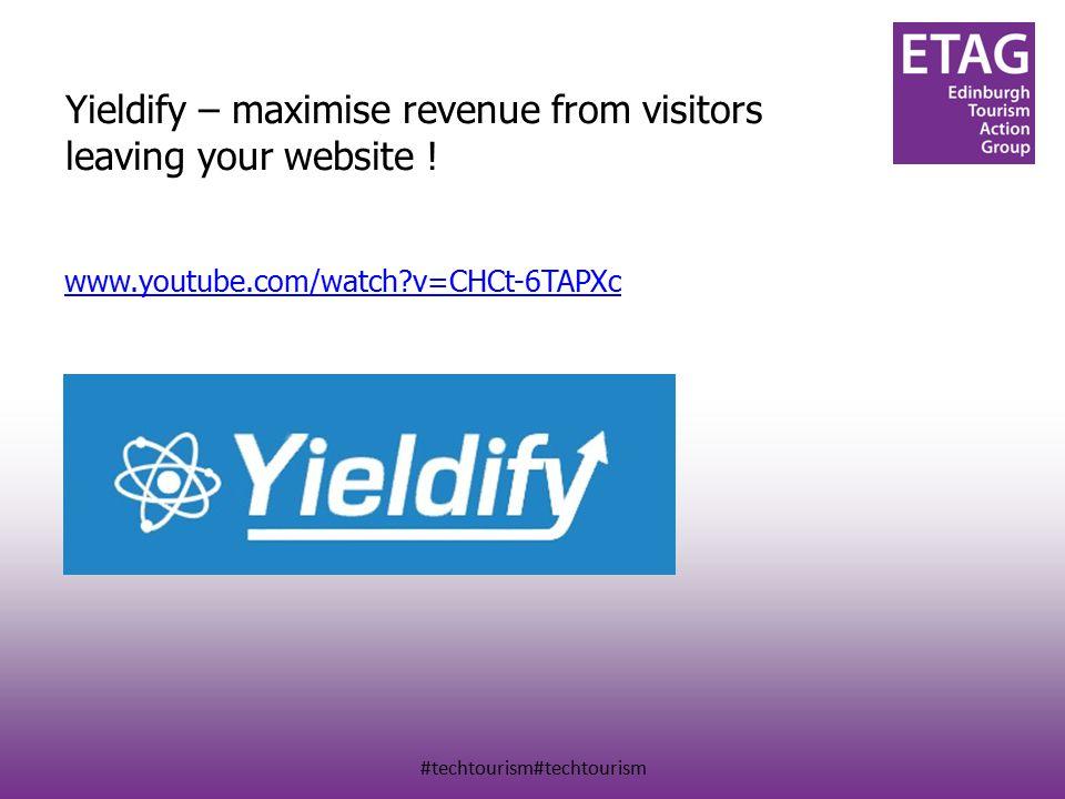 #techtourism#techtourism Yieldify – maximise revenue from visitors leaving your website .