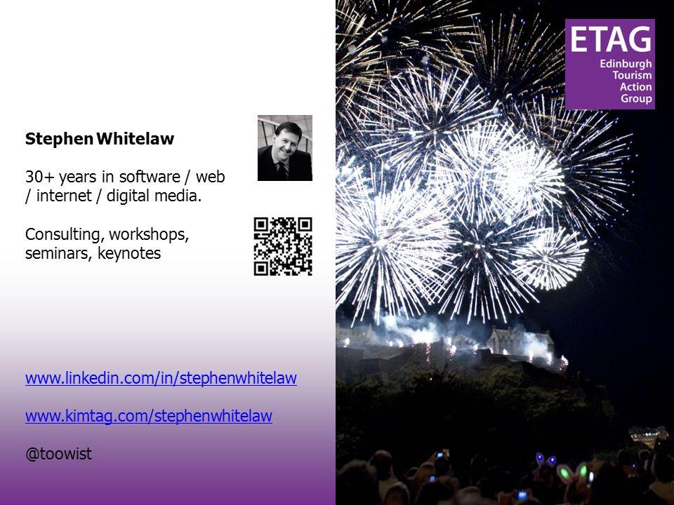 #techtourism#techtourism Stephen Whitelaw 30+ years in software / web / internet / digital media.