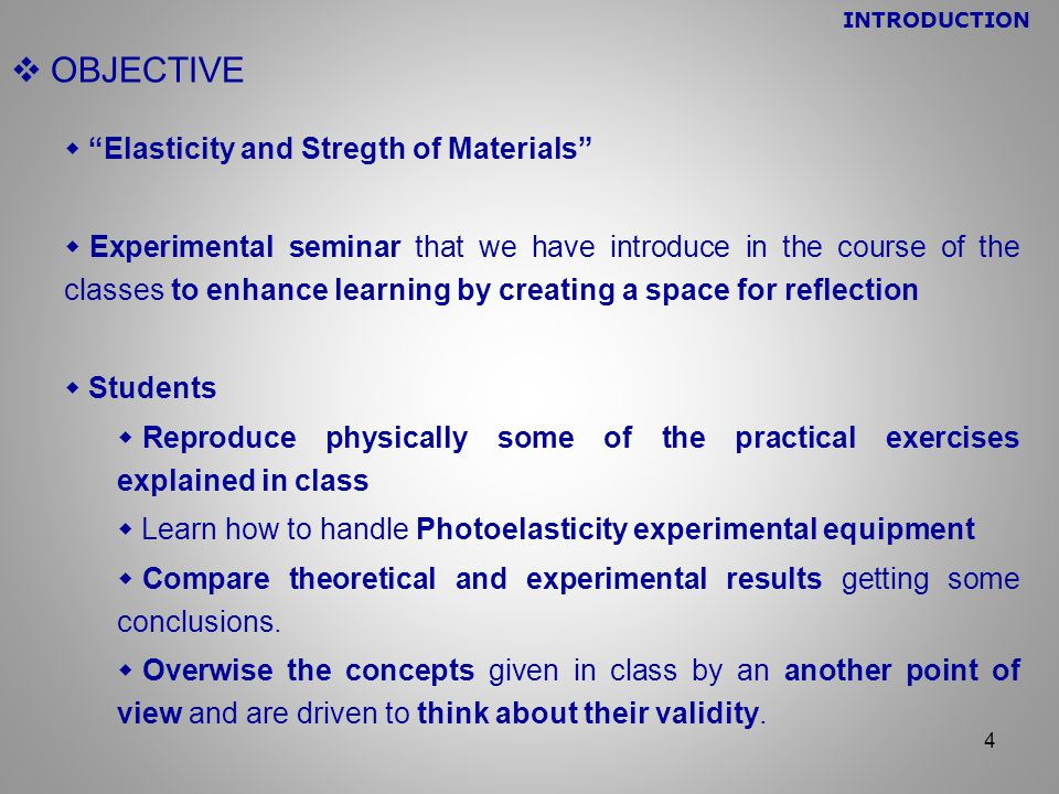  ELASTICITY AND STRENGTH OF MATERIALS  This subject provides the fundamental knowledge to deal with important fields in mechanical engineering like Structural Analisys and Machine Design.