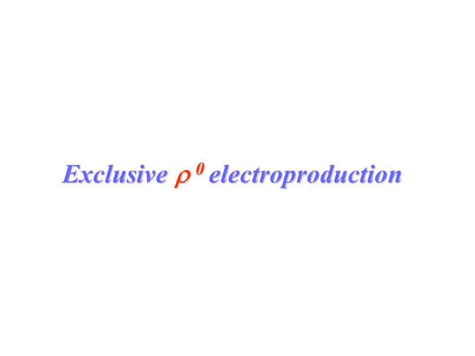 Exclusive  0 electroproduction