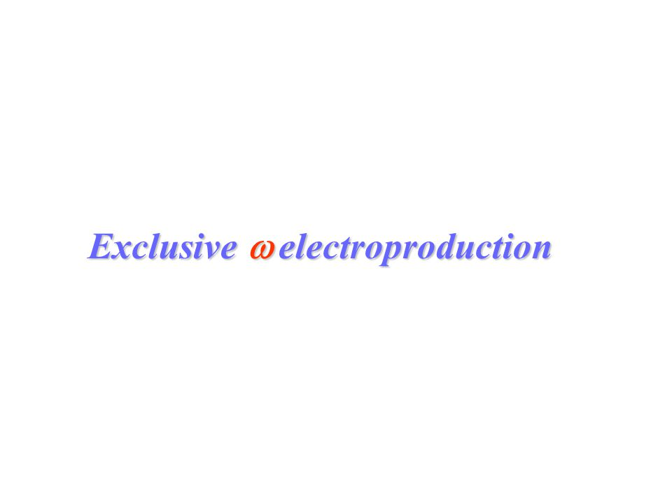 Exclusive  electroproduction