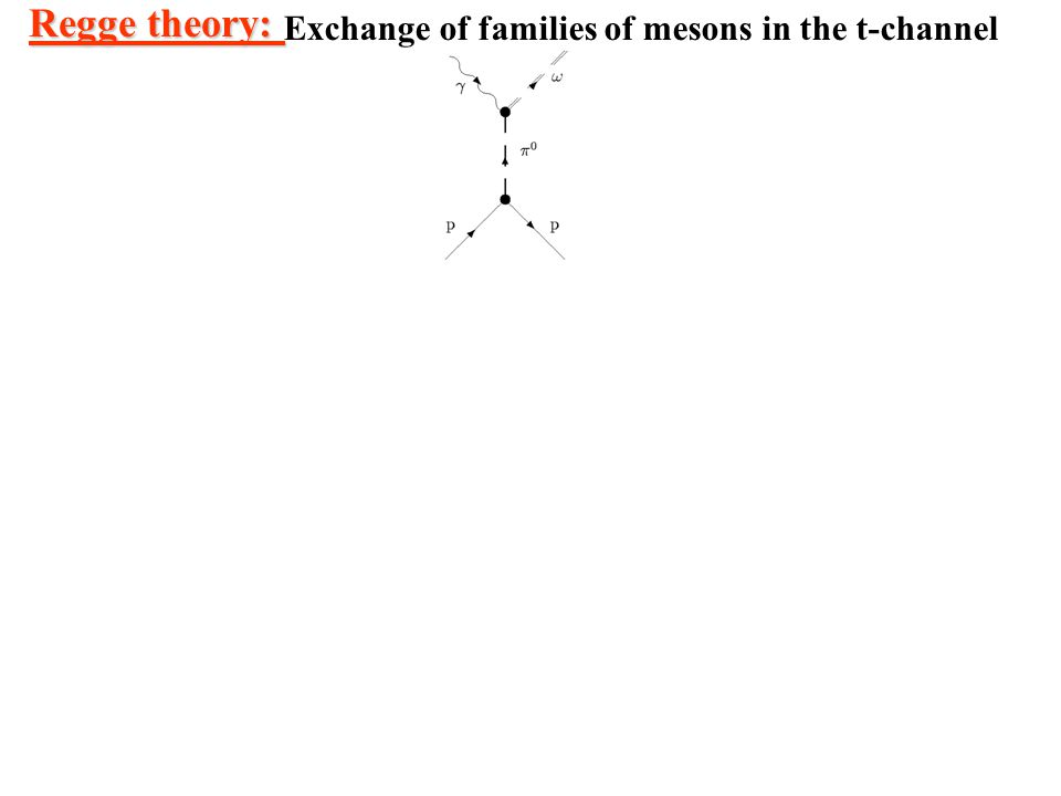 Regge theory: Exchange of families of mesons in the t-channel