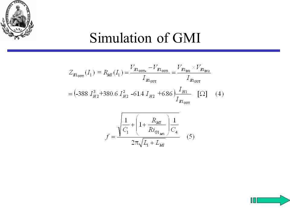 Simulation of GMI