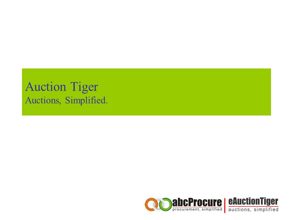 Auction Tiger Auctions, Simplified.