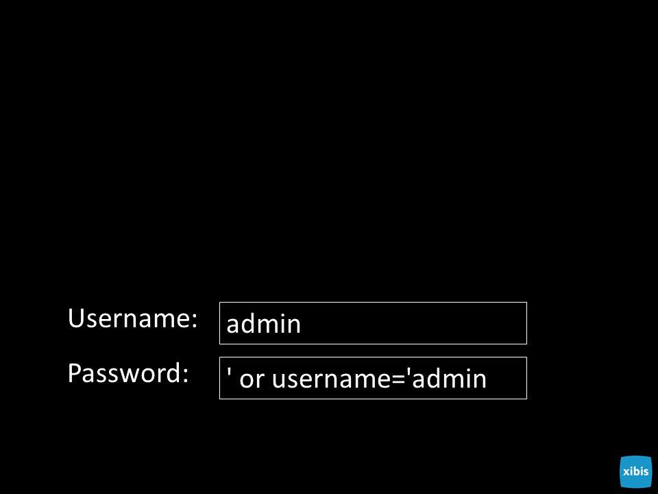 Username: admin Password: or username= admin