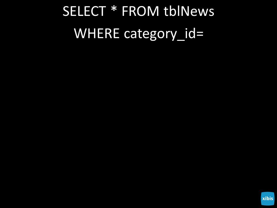 SELECT * FROM tblNews WHERE category_id=
