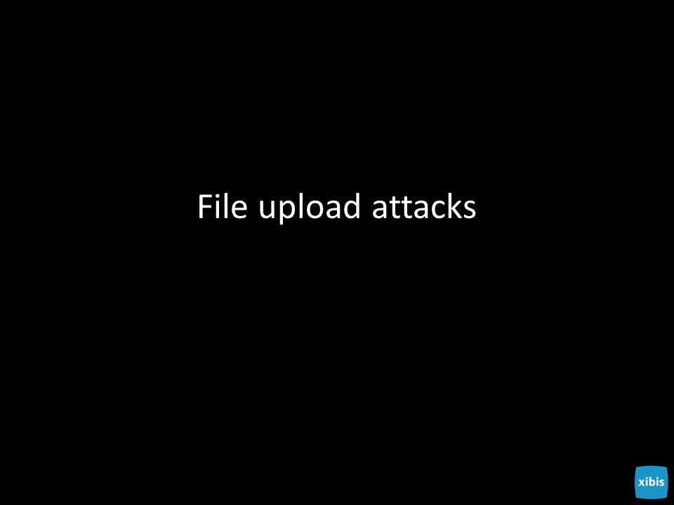 File upload attacks