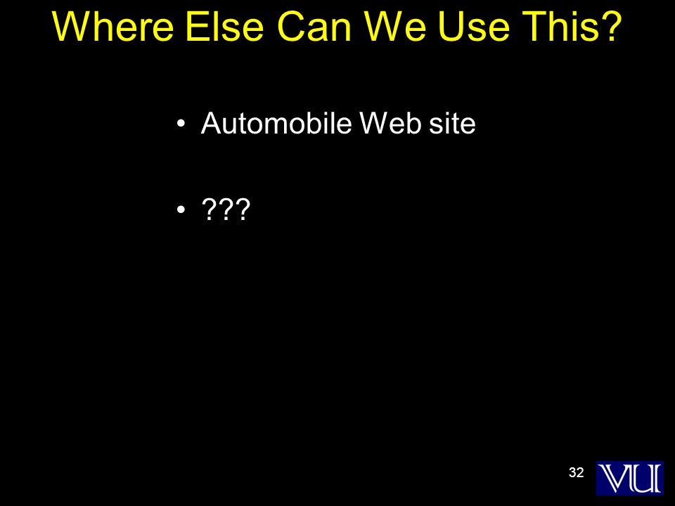 32 Where Else Can We Use This Automobile Web site