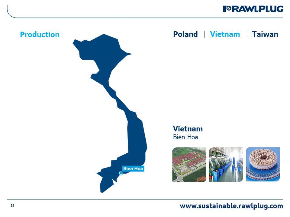 12 Production Vietnam Bien Hoa PolandVietnamTaiwan