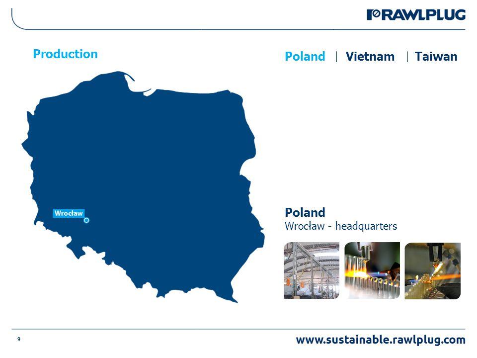 9 Production Poland Wrocław - headquarters PolandVietnamTaiwan
