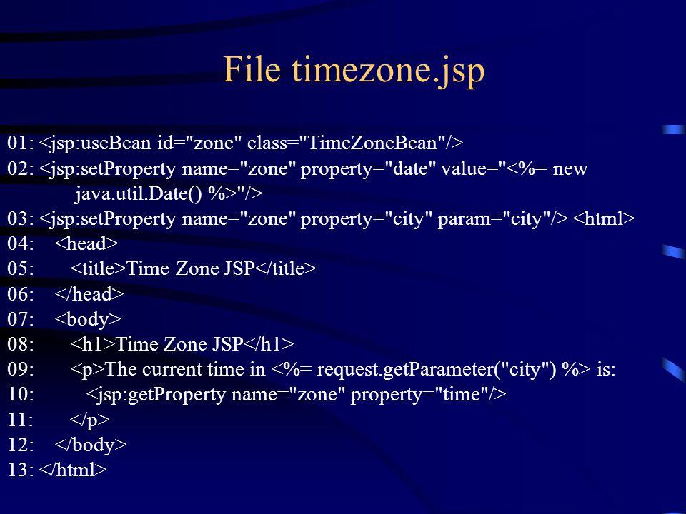 File timezone.jsp 01: 02: