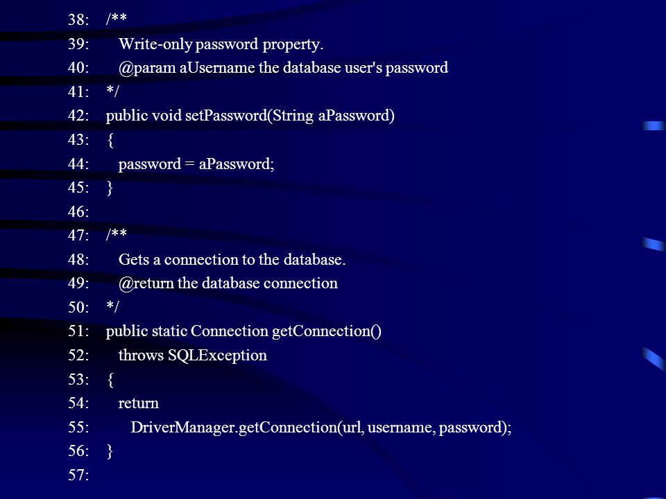 38: /** 39: Write-only password property.