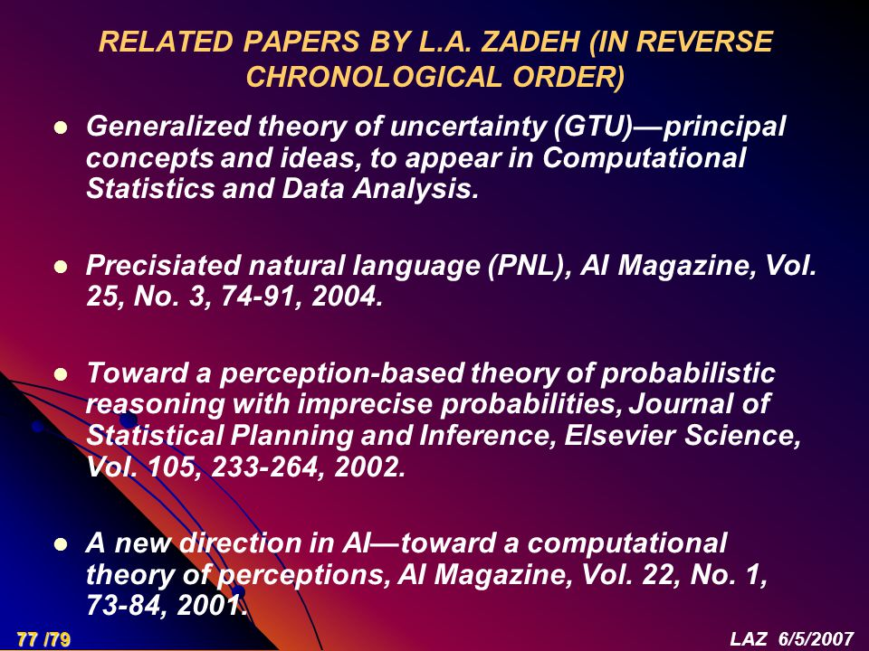 RELATED PAPERS BY L.A.