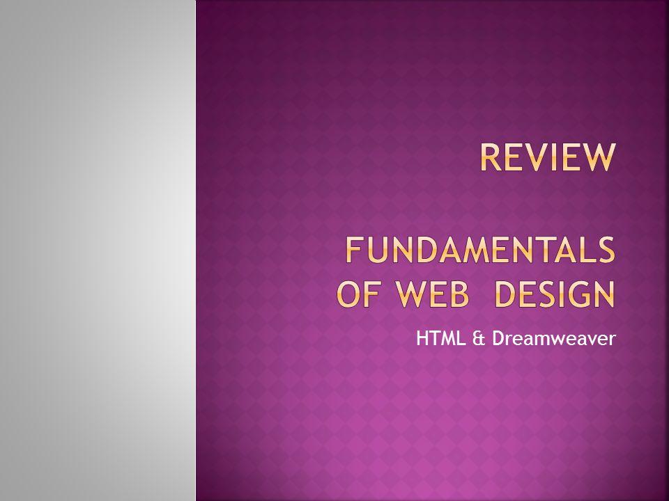 HTML & Dreamweaver