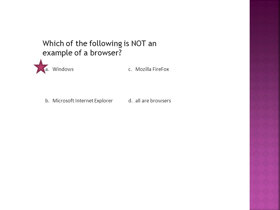 Which of the following is NOT an example of a browser.
