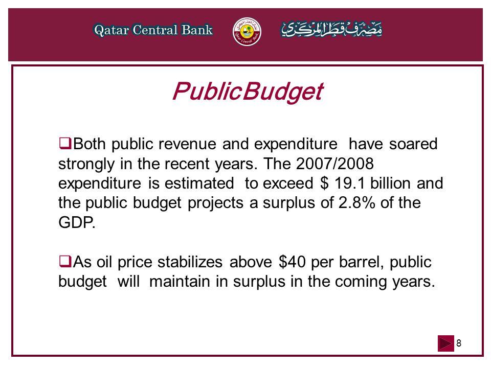 9 $ bn Items ActualBudget 2004/20052005/20062006/20072007/2008 Total Revenues15.117.922.719.9 Total Expenditures10.014.019.118.1 Surplus5.23.93.61.9