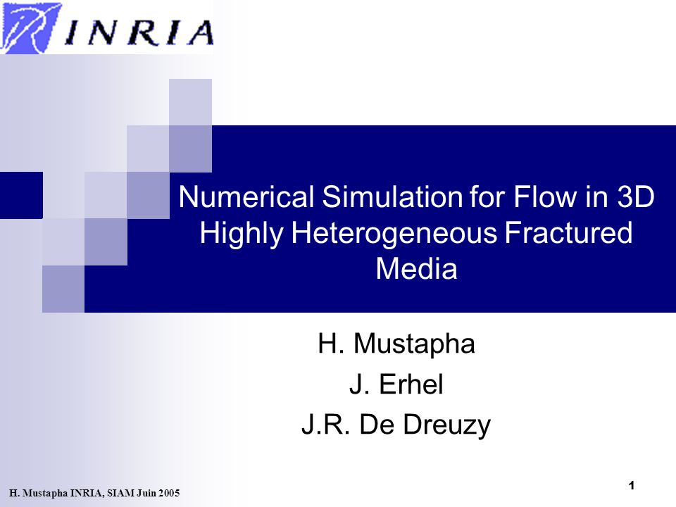 1 Numerical Simulation for Flow in 3D Highly Heterogeneous Fractured Media H.