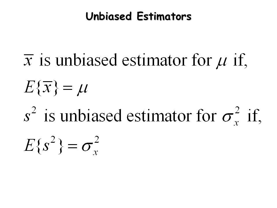 Unbiased Estimators