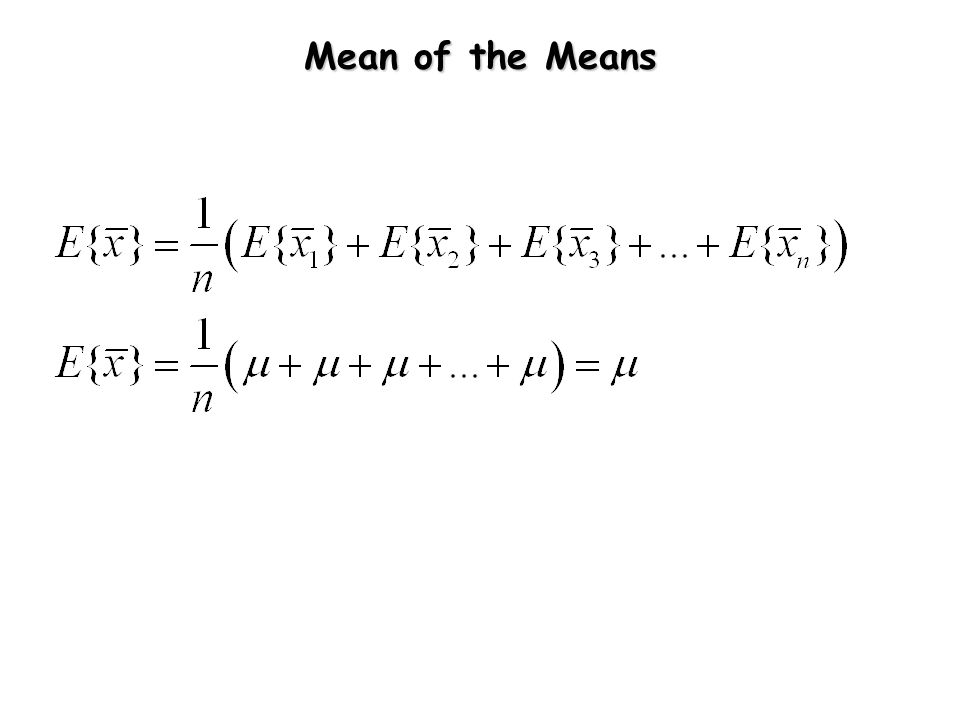 Mean of the Means
