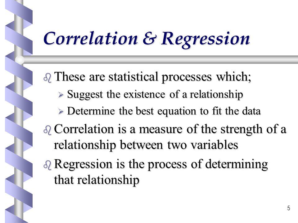 6 Correlation and Regression The next few slides illustrate correlation and regression