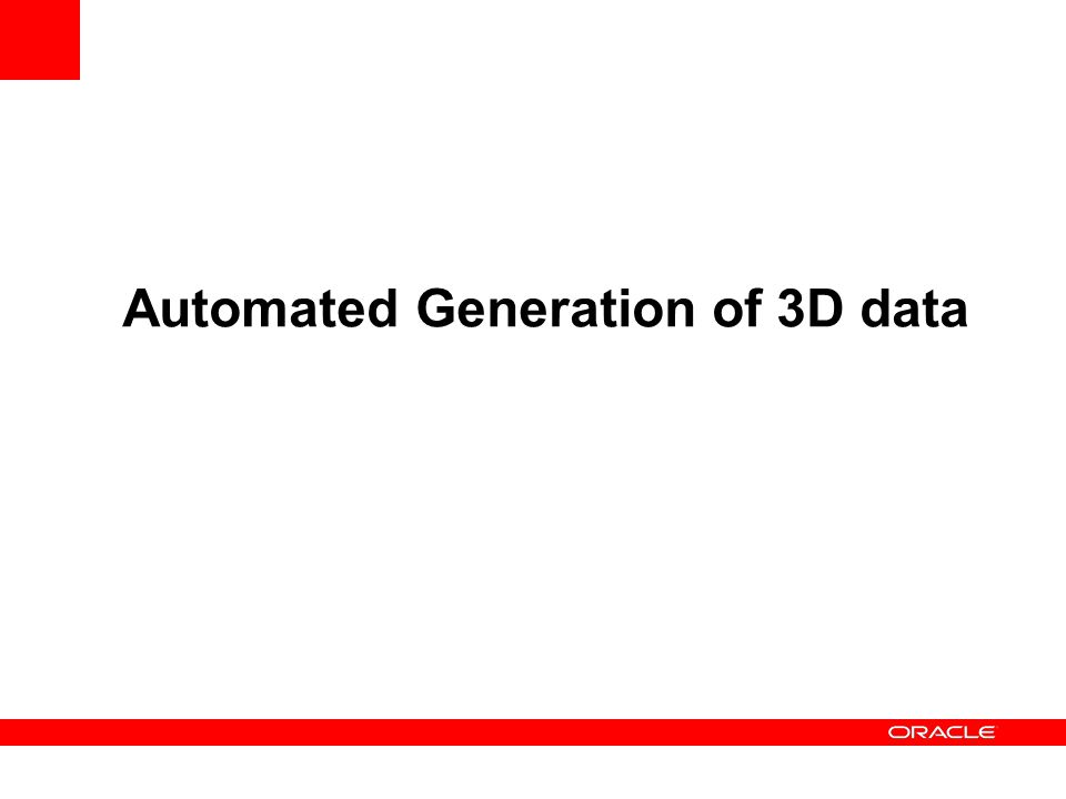 Automated Generation of 3D data