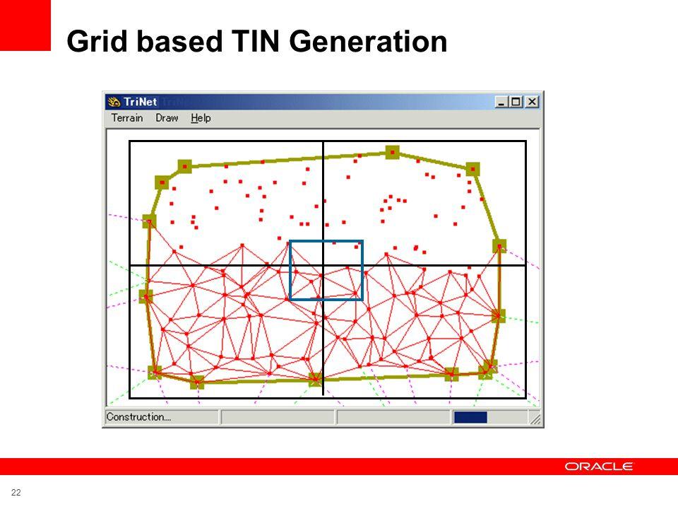 22 Grid based TIN Generation