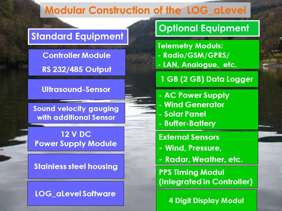 GENERAL ACOUSTICS © 12 V DC Power Supply Module Telemetry Moduls: - Radio/GSM/GPRS/ - LAN, Analogue, etc. 1 GB (2 GB) Data Logger Standard Equipment O