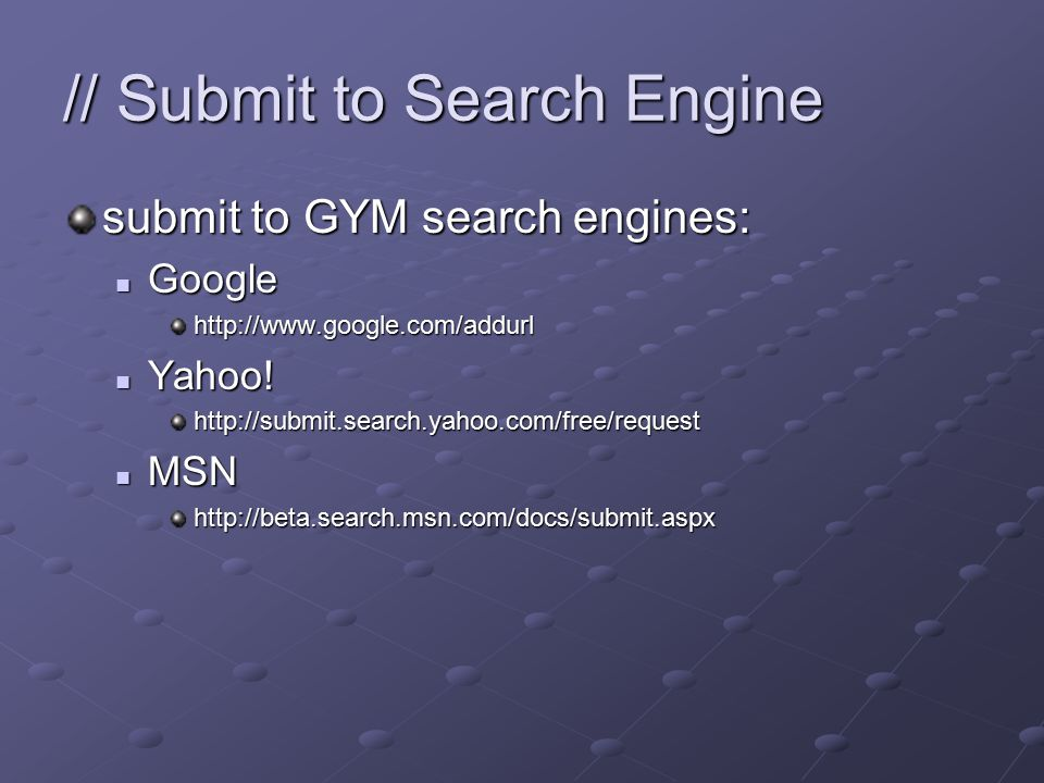 // Backlinks enhance popularity by getting more incoming links Yahoo.