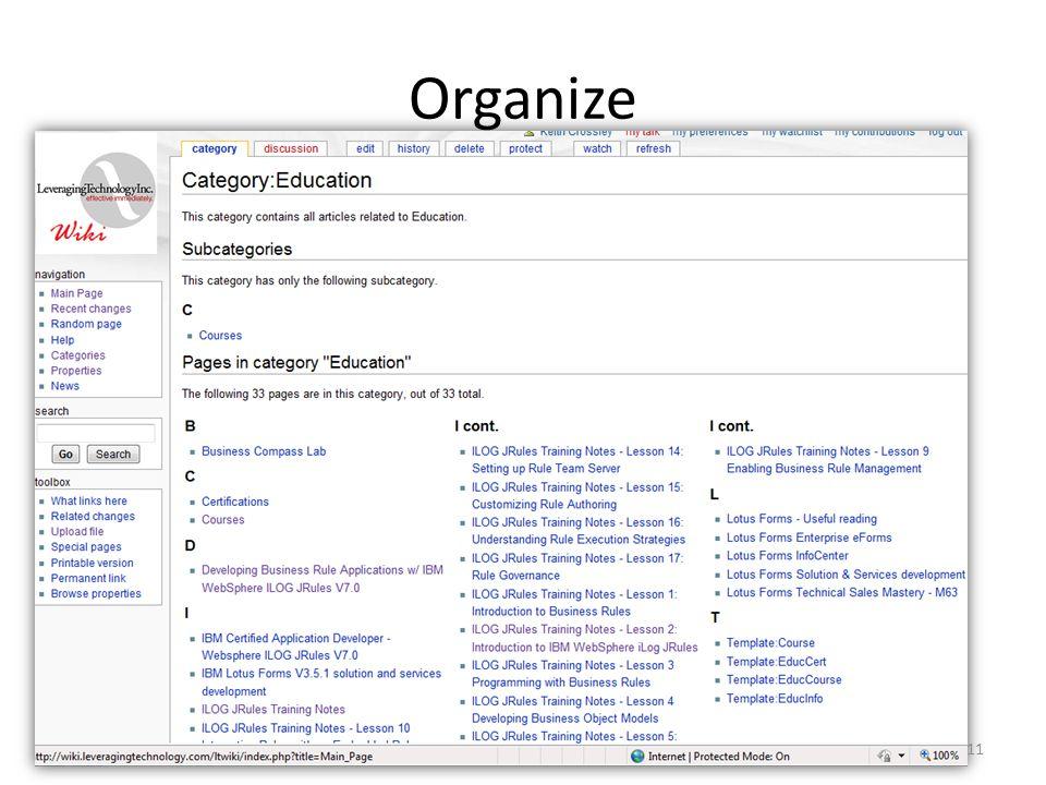 Organize 11