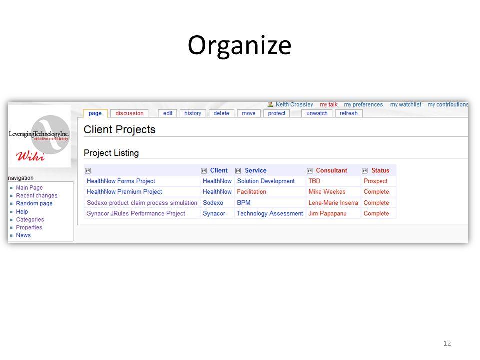 Organize 12