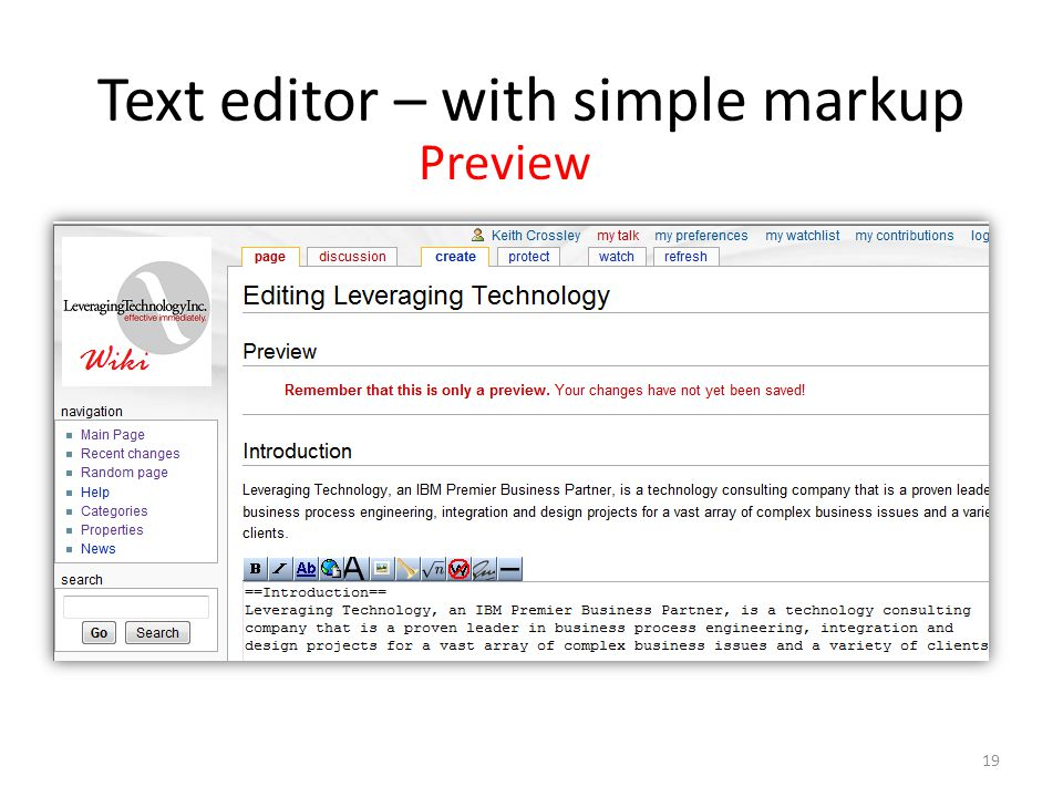 Text editor – with simple markup Preview 19