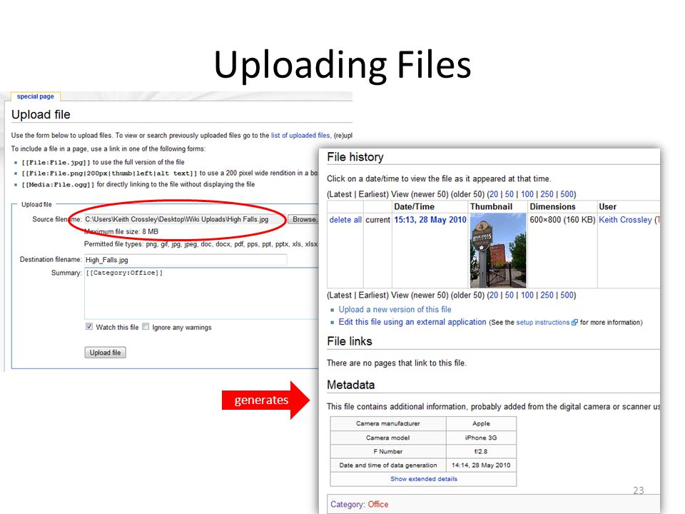 Uploading Files generates 23