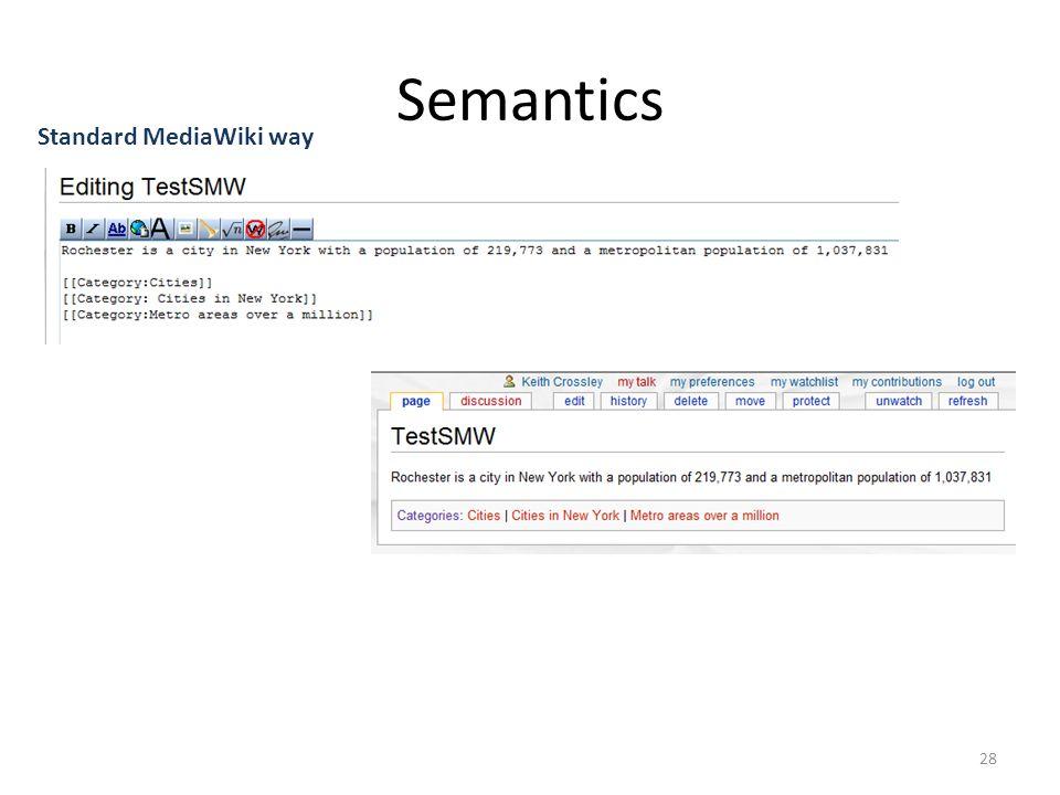 Semantics 28 Standard MediaWiki way