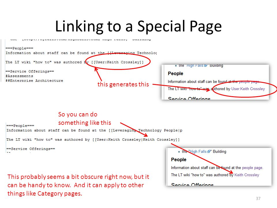 Linking to a Special Page this generates this So you can do something like this This probably seems a bit obscure right now, but it can be handy to know.