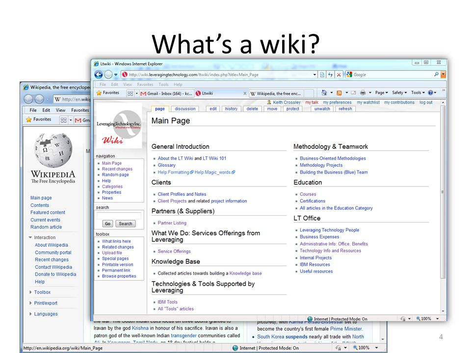 Special Pages Special – There are regular wiki articles and then there are Special Pages that you have occasion to use, including: Category File Template Property User – You will recognize these in the browser's address box http://wiki.leveragingtechnology.com/ltwiki/index.php?title=User:Keith_Crossley 35