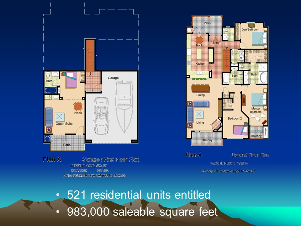521 residential units entitled 983,000 saleable square feet