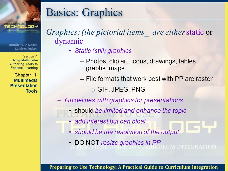 Section V: Using Multimedia Authoring Tools to Enhance Learning Chapter 11: Multimedia Presentation Tools Questions???