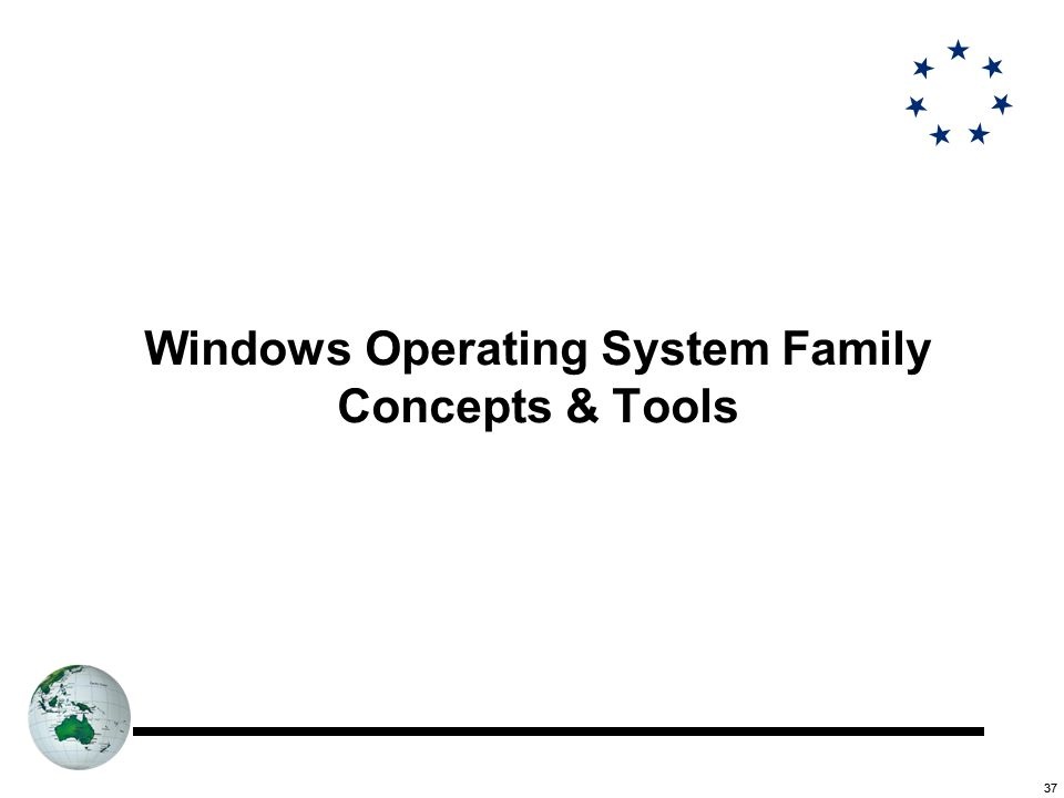 37 Windows Operating System Family Concepts & Tools
