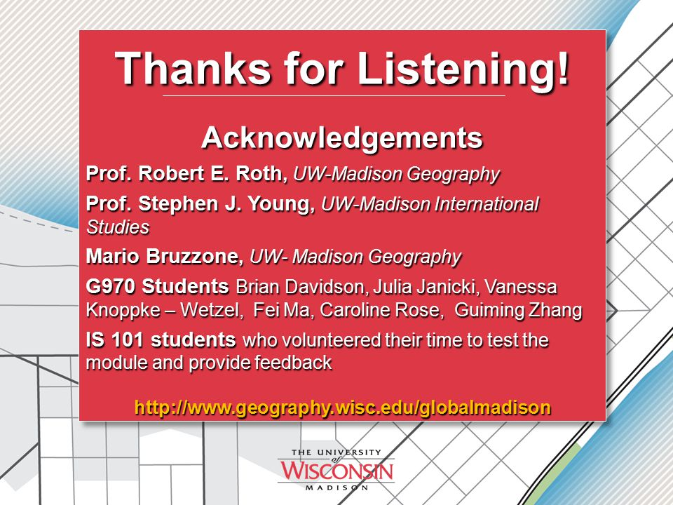 Thanks for Listening. Acknowledgements Prof. Robert E.