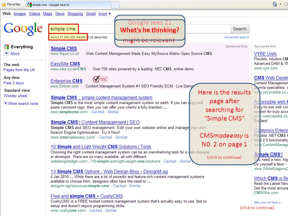 © www.CMSmadeeasy.com Why does Google do that.